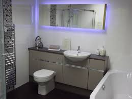 Bathroom Led Lights Small Bathroom With Fitted Furniture And Led Lights Fitted