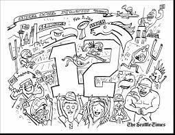 seahawks coloring page seattle seahawks logo coloring page free