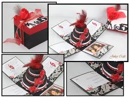 red u0026 black mis quince exploding box invitation jinkys crafts