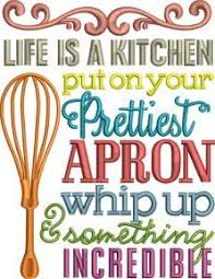 Free Kitchen Embroidery Designs A Funny Kitchen Saying Machine Embroidery Design Sew Easy
