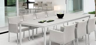 White Modern Outdoor Furniture by Curran Specializes In European High End Modern Outdoor Furniture