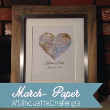 wedding gift map march silhouette challenge wedding shower gift heart map