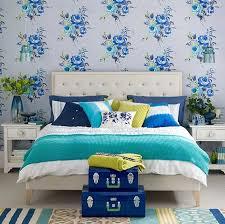 schlafzimmer tapeten gestalten schlafzimmer tapeten gestalten blau florale motiv