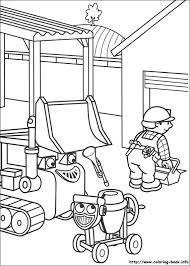 bob builder coloring picture malebog bobs