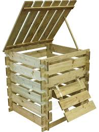 wooden bin wood compost bin 10 easy pieces wood compost bins gardenista
