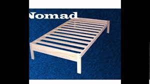xl twin nomad platform bed frame youtube