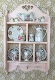 Shabby Chic Plate Rack shabby cottage chic wall curio cabinet plate rack cubby shelf