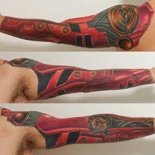 robot arm pink elephant aaron r ankeny ia tattoos