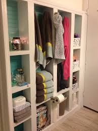 Storage Bathroom Ideas by Extra Bathroom Storage With Built In Bookcase Boxes Were Built In