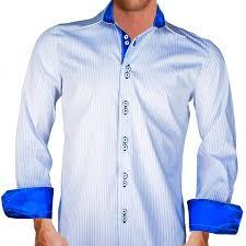 white blue striped shirts