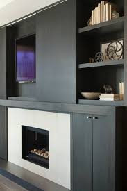 modern built in tv cabinet suzie kelly deck design ebony wood built ins sliding door tv