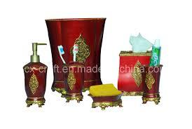 Bathroom Accessories Supplier by 7pcs Cute Ceramic Red Bathroom Accessories Set China Bathroom