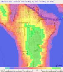 mercer map elevation of mercer island us elevation map topography contour