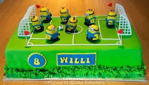 soccer cake minions soccer cake cake by dreamcakes groningen cakesdecor