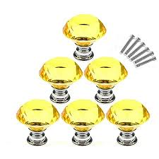 what type of glass is used for cabinet doors akoak 6 pcs 30mm yellow shape glass cabinet knob used for cabinet drawer chest bin dresser cupboard etc