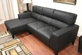 L Leather Sofa Leather Contemporary L Shaped Sofa Sectional W High Back
