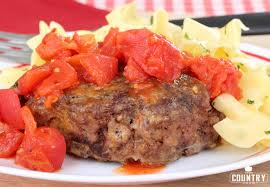 hamburger steaks with tomato gravy the country cook