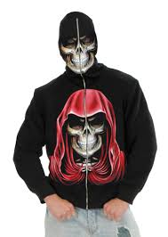 mens evil empire skeleton hoodie mr costumes