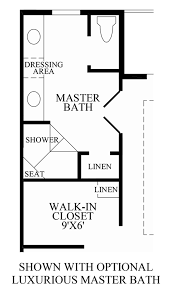 Master Bathroom Floor Plans With Walk In Shower by Loudoun Valley The Buckingham The Denham Home Design