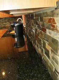 Slate Backsplash In Kitchen by Slate Countertops Home Decor