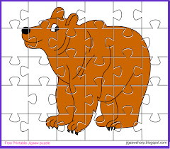 free printable jigsaw puzzle game bear jigsaw puzzle