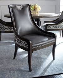leather nailhead dining chair horchow com