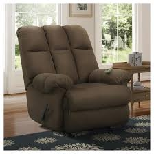 padded massage recliner with controller chocolate dorel living