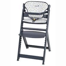 chaise haute b b en bois chaise haute bébé bois timba coussin gris safety la redoute