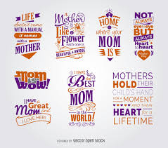 collection of mother u0027s day quotes vector download