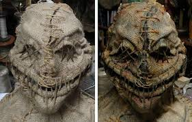 Scary Scarecrow Costume Before And After Coloring Distressing And Antiquing Halloween