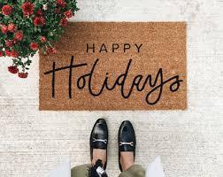 Holiday Doormat Christmas Doormat Etsy