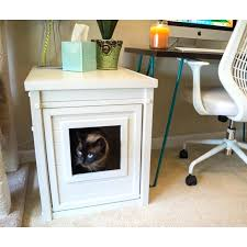 litter box side table litter box side table white litter loo cabinet as a side table with