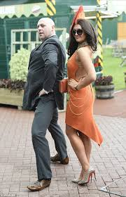charlotte dawson goes for orange overload at chester races daily