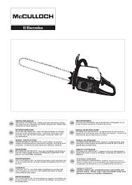mcculloch chainsaw pro mac 54 54cc user guide manualsonline com