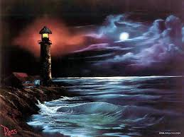 light house at night lighthouse at night by bob ross bob ross lighthouse and bobs
