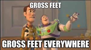 Ugly Feet Meme - gross feet meme feet best of the funny meme