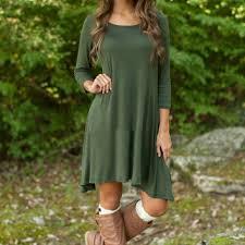 women casual green three quarter sleeve from sogomall dresses