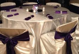 Purple Table L Linen Sequin