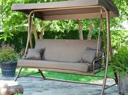 Wooden Swing Set Canopy by Patio 43 Patio Swing Set 204988688 Leisure Season Wooden