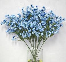 silk baby s breath 12 light blue baby s breath stems gypsophila silk wedding