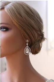 drop bridal earrings platinum chandelier teardrop bridal earrings wedding earrings