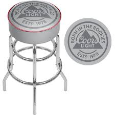 coors light sign amazon amazon com coors light chrome bar stool with swivel sports stools