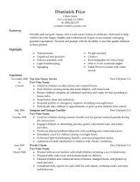 Resume For Customer Service Job by Download Nanny Resume Sample Haadyaooverbayresort Com