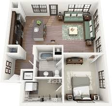 Average Square Footage Of A 4 Bedroom House 50 One U201c1 U201d Bedroom Apartment House Plans Washer Natural Light