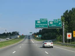 Interstate 26 Map South Carolina Aaroads Interstate 26 East Spartanburg County