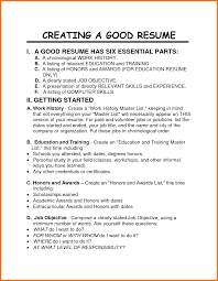 resume format objective statement importance of good resume template to get your dream job dadakan importance of good resume template to get your dream job