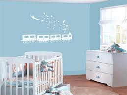 Nursery Wall Decals For Girls by White Train Wall Decal For Cheery Baby Girl Nursery Ideas With