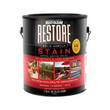 rust oleum restore 1 gal water based exterior wood and concrete
