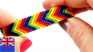 friendship bracelet rainbow images Friendship bracelet rainbow tutorial how to make a friendship jpg