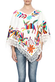 nativa mexican embroidered poncho from texas u2014 shoptiques
